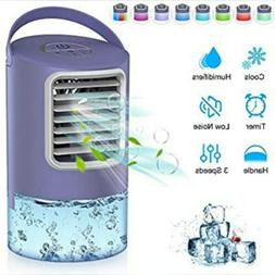 Personal Air Cooler, Portable Air Conditioner Fan, 3 Speed Q