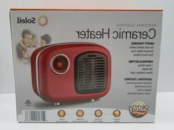 Soleil Personal Ceramic Heater Retro Style 250W Indoor Red M