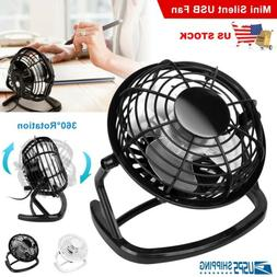 Personal Desk Table Cooling Fan USB Small Air Circulator Qui