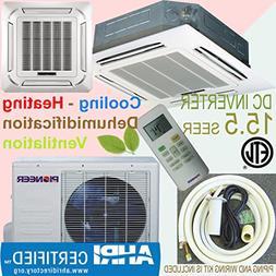 Pioneer Ceiling Cassette Split Ductless Inverter+ Heat Pump