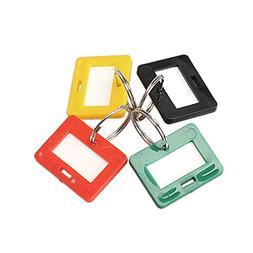 TTnight 100Pcs Plastic Keychain Key Tags 5 Style ID Label Na