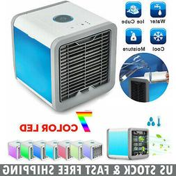 Portable Mini Air Conditioner 7 Colors LED Cooling Air Fan H