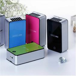 PORTABLE MINI AIR CONDITIONER FAN RECHARGEABLE BATTERY USB F