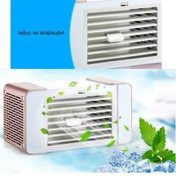 Portable Mini Desktop Air Conditioner Small Fan USB Cooling