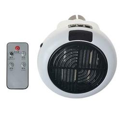 Quiet Portable Electric Ceramic Space Fan Home Bedroom Timed