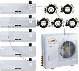 Quint 5-Zone Ductless Mini Split Air Conditioner Heat Pump,