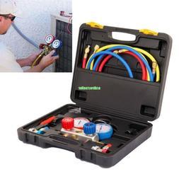 R134a R22 R410a R404a AC Refrigeration Kit A/C Manifold Gaug