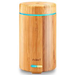 TomCare Real Bamboo Essential Oil Diffuser Ultrasonic Aromot