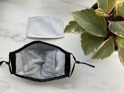 Soft Fabric Face Mask With Filter And Filter Pocket