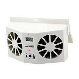NewKelly Solar Powered Car Air Ventilator Mini Air Condition