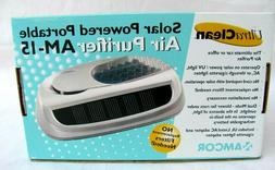 AMCOR..SOLAR POWERED..PORTABLE..AIR PURIFIER AM-15..TRAVEL..