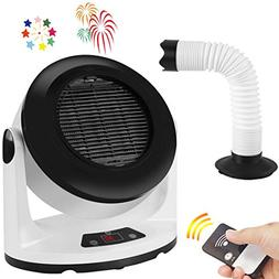 Space Heater Fan Electric Small Heater with Timer and Remote