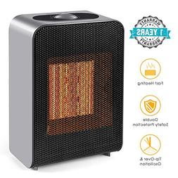ROSKY Space Heaters, Ceramic Heater with Auto Shut Off Porta