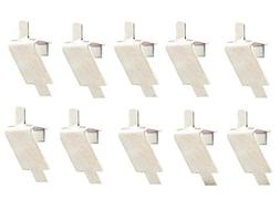 YuXuan Pavilion (10 Pack Stainless Steel Shelf Support, Pi