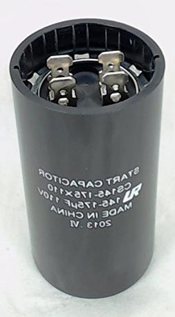 Start Capacitor, Round, 145-175 Mfd., 110 Volt, CS145-175X11