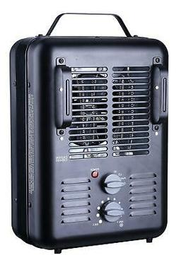 Utility Style Electric Space Heater 1500W Indoor Black Bathr
