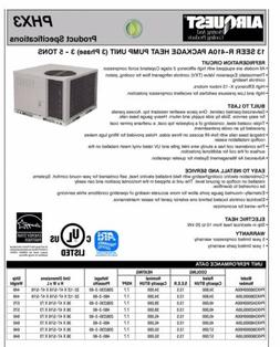 ICP Tempstar 3T Package Unit Heat Pump AC PHX336000H00A 13 S
