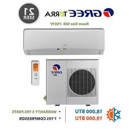 GREE Terra Ultra Efficient  18,000 BTU Ductless Mini Split A