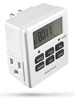 FosPower Timers for Electrical Outlets  125V/15A LCD Digital