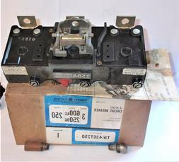 GE GENERAL ELECTRIC TJK436T250 3 POLE 600AC 250DC 250 AMP TR
