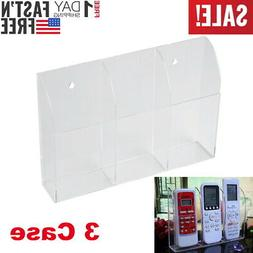 TV Air Conditioner Remote Control Holder 3 Case Acrylic Wall