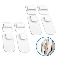Remote Control Holder Hook - 4 Set Wall Mount Storage Sticky