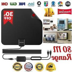 Lesoom 2018 Newest Best 80 Miles Long Range TV Antenna Freev