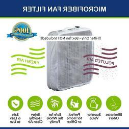 """TWO Box Fan Filters for 20"""" Box Fans w/ Hook & Loop Fastener"""