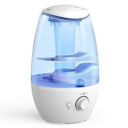 Ultrasonic Cool Mist Humidifier, ALIWELL 1.7L Air Humidifier