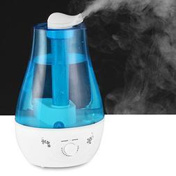XIQI 3L Ultrasonic Cool Mist Humidifier,2*360D Rotation Nozz