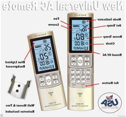 Universal A/C Remote Control Fits Samsung, Panasonic, Sanyo,