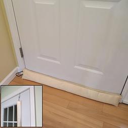 Evelots Updated Hanging Door Draft Stopper With Door Hook, S