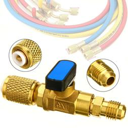 Brass HVAC A/C Straight SHUT-OFF Ball Valve Adapter Tool For