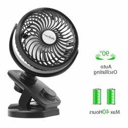 """USB Rechargeable Oscillating Mini Fan 8"""" Clip On Desk Fan 44"""