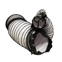 "Rubber-Cal ""Air Ventilator White"" Ventilation Duct Hose , 8-"