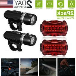 Waterproof 5 LED Lamp Bike Bicycle Front Head Light+Rear Saf