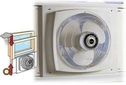 White 16 Inch Electrically Reversible Window Fan 3 Speed Qui