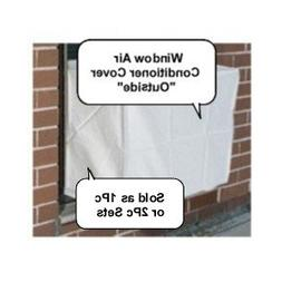 Window Air Conditioner Cover - Window/thru Wall - 2PC SET Ou